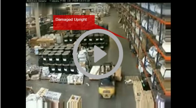 pallet racking collapse video